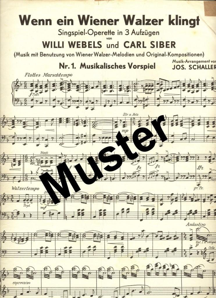 Wenn ein Wiener Walzer klingt_Noten_Muster